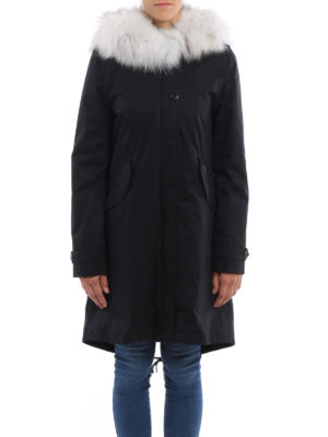 Woolrich: parkas online - Fox fur detailed hooded eskimo