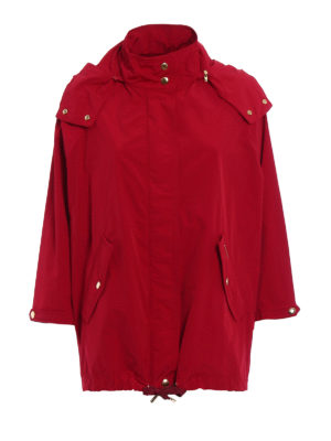 Woolrich: parkas - Red windproof short parka
