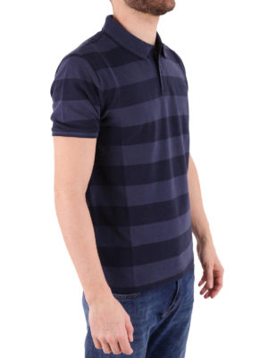 Woolrich: polo shirts online - Striped stretch pique cotton polo