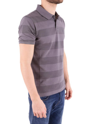 Woolrich: polo shirts online - Striped stretch pique polo