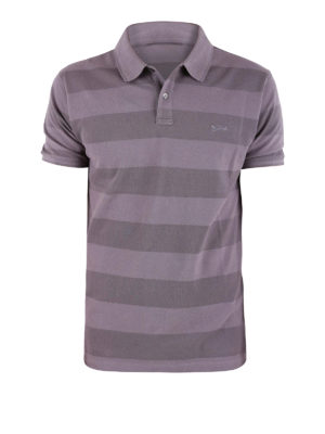 Woolrich: polo shirts - Striped stretch pique polo
