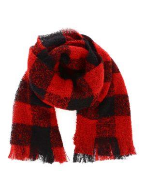 WOOLRICH: scarves - Check bouclé scarf