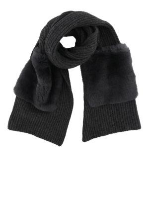 WOOLRICH: sciarpe e foulard - Sciarpa in lana e cashmere con tasche lapin