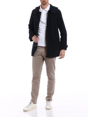 Woolrich: short coats online - Shape Memory nylon rain coat