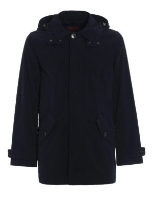 Woolrich: short coats - Shape Memory nylon rain coat