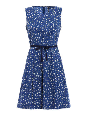 Woolrich: short dresses - Printed cotton sleeveless dress