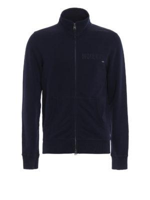 Woolrich: Sweatshirts & Sweaters - Full zip cotton sweatshirt