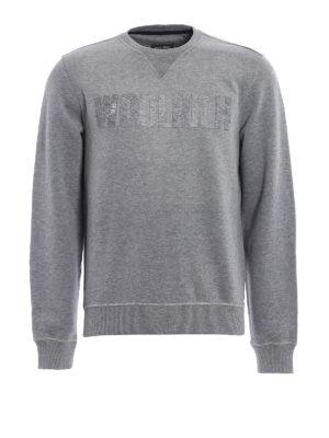 Woolrich: Sweatshirts & Sweaters - Logo detailed sweatshirt