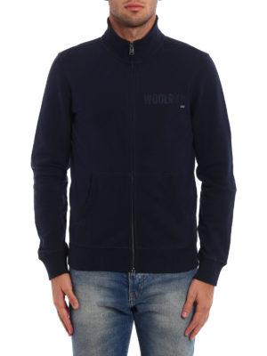 Woolrich: Sweatshirts & Sweaters online - Full zip cotton sweatshirt