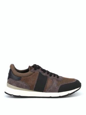 WOOLRICH: sneakers - Sneaker da jogging in tessuto e pelle