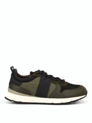 WOOLRICH: sneakers - Sneaker jogging in tessuto e pelle