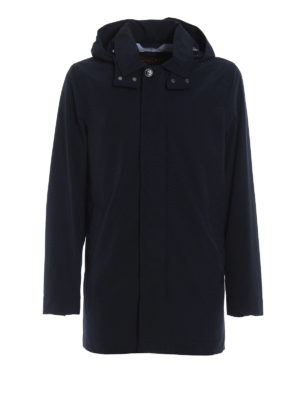 Woolrich: trench coats - Brady cool and dry blue trench coat