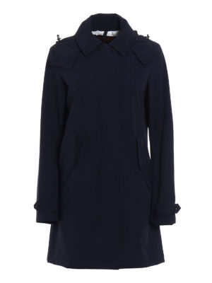 Woolrich: trench coats - Charlotte stretch nylon trench coat