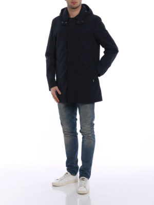 Woolrich: trench coats online - Brady cool and dry blue trench coat