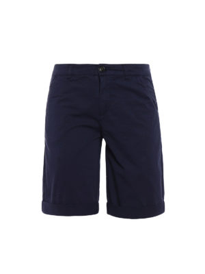 Woolrich: Trousers Shorts - Blue slim fit short chinos