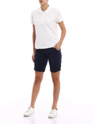 Woolrich: Trousers Shorts online - Blue slim fit short chinos