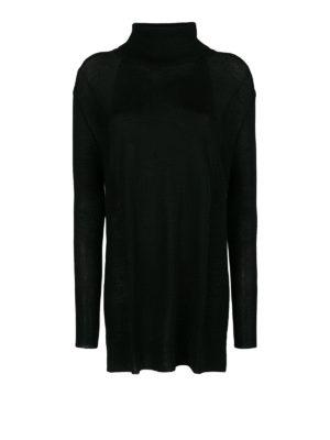 WOOLRICH: maglia a collo alto e polo - Maglia in lana lunga con collo alto
