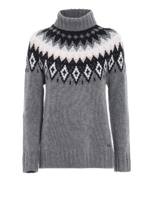 Woolrich: Turtlenecks & Polo necks - Wool and cashmere grey sweater