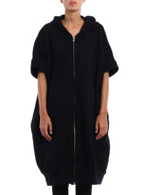 Y's: knee length coats online - Hoodie style cotton over coat