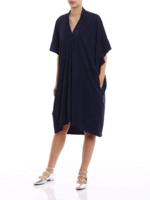 Y's: knee length dresses online - Poplin oversized dress