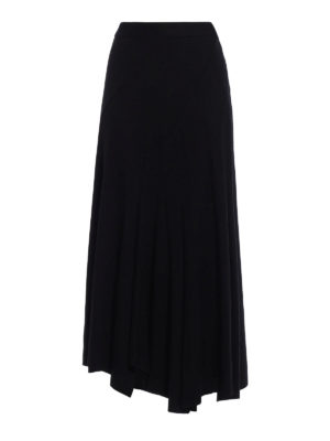 Y's: Long skirts - Knitted wool asymmetric skirt