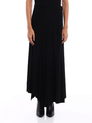 Y's: Long skirts online - Knitted wool asymmetric skirt