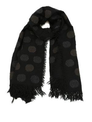 Y's: scarves - Embossed pattern wool scarf