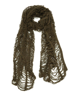 Y's: scarves - Mesh design wool scarf