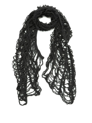 Y's: scarves - Mesh design wool scarf