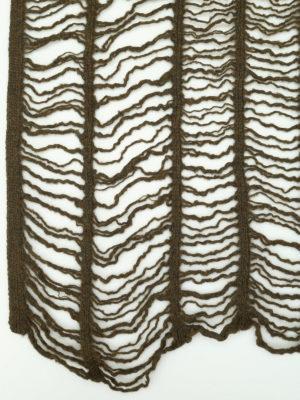 Y's: scarves online - Mesh design wool scarf