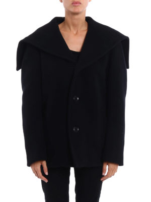 Y's: short coats online - Wool blend cloth short coat