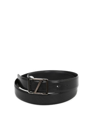 Z Zegna: belts - Micro patterned leather belt