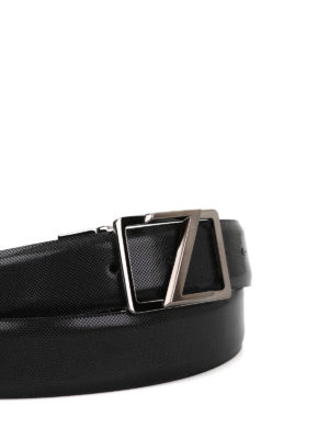 Z Zegna: belts online - Micro patterned leather belt
