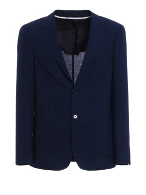 Z Zegna: blazers - Micro patterned Shirt Jacket