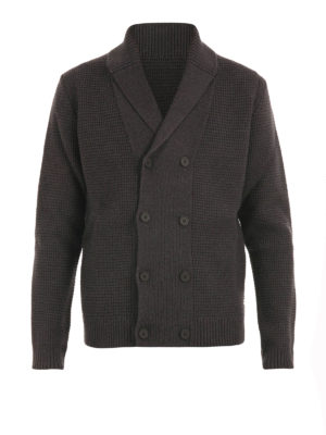 Z Zegna: cardigans - Double-breasted wool cardigan