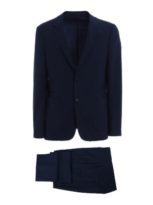 Z Zegna: casual suits - Dark blue Techmerino suit