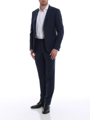 Z Zegna: casual suits online - Dark blue Techmerino suit