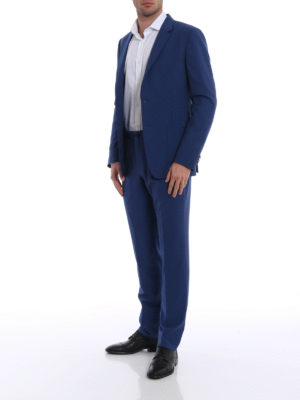 Z Zegna: casual suits online - Shimmering blue Techmerino suit