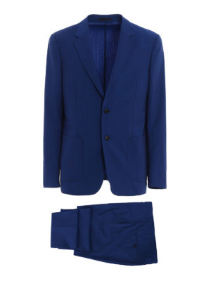 Z Zegna: casual suits - Shimmering blue Techmerino suit