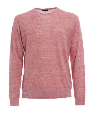 Z Zegna: crew necks - Melange linen and cotton sweater