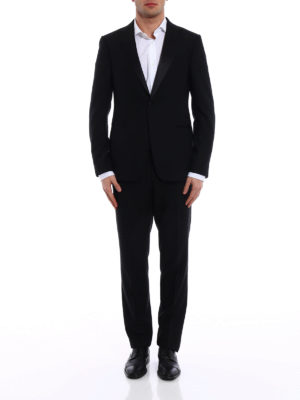 Z Zegna: dinner suits online - Turati black wool tuxedo