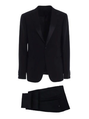 Z Zegna: dinner suits - Turati black wool tuxedo
