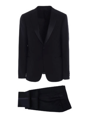 Z Zegna: dinner suits - Turati peak lapels black tuxedo