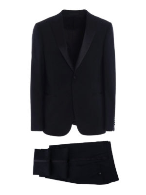 Z Zegna: dinner suits - Turati peak lapels dark blue tuxedo
