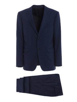 Z Zegna: formal suits - Blue micro patterned wool suit