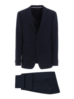 Z Zegna: formal suits - Micro patterned wool blend suit