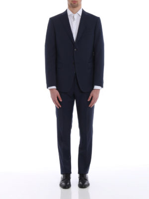 Z Zegna: formal suits online - Blue micro patterned wool suit