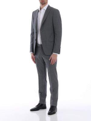 Z Zegna: formal suits online - Turati grey wool and mohair suit
