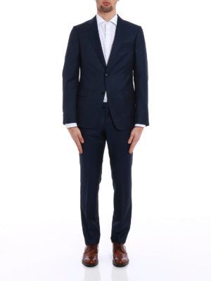 Z Zegna: formal suits online - Wool and mohair blend crepe suit