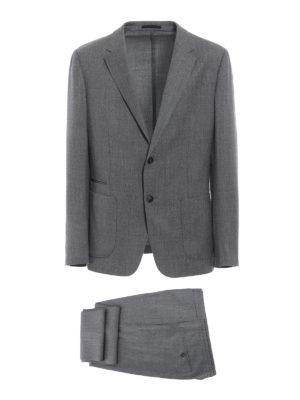 Z ZEGNA: completi da cerimonia - Completo Turati in lana merino grigio chiaro